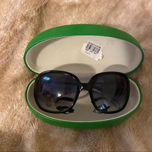 NWT Kate Spade Authentic Kelley Sunglasses (Black)